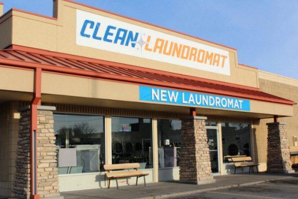 Clean Laundromat Parking Lot Side