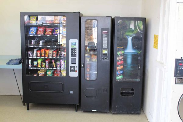 vending machines inside the blackfoot laundromat