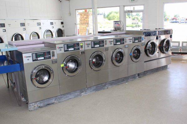 New washing machines inside the Blackfoot laundromat